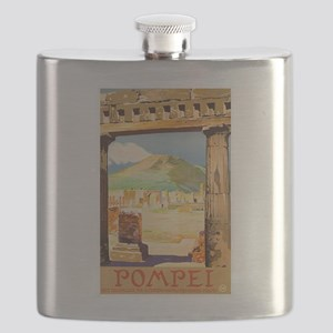 Pompei Italy ~ Vintage Travel Flask