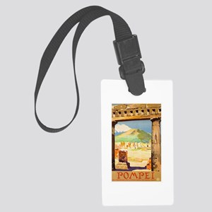 Pompei Italy ~ Vintage Travel Large Luggage Tag