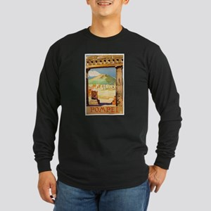 Pompei Italy ~ Vintage Tr Long Sleeve Dark T-Shirt