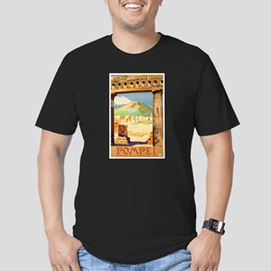 Pompei Italy ~ Vintage Men's Fitted T-Shirt (dark)