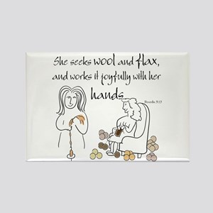 proverbs 31_13v2 Magnets