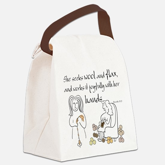 proverbs 31_13v2.png Canvas Lunch Bag