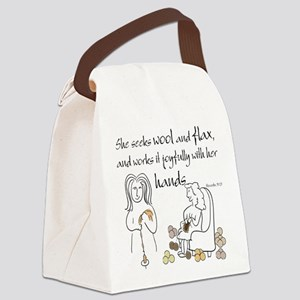 proverbs 31_13v2 Canvas Lunch Bag