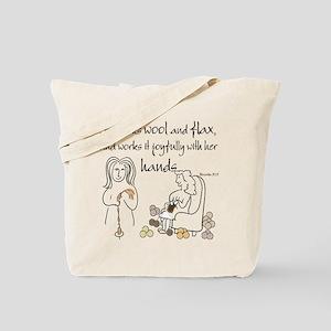 proverbs 31_13v2 Tote Bag