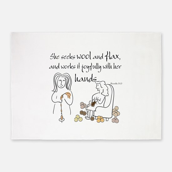 proverbs 31_13v2.png 5'x7'Area Rug