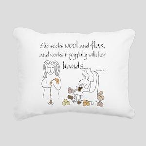 proverbs 31_13v2 Rectangular Canvas Pillow