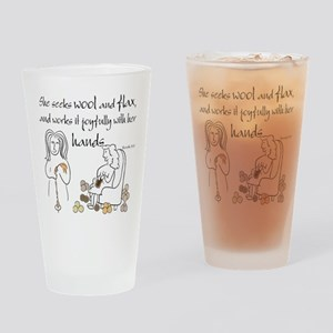 proverbs 31_13v2 Drinking Glass