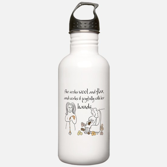 proverbs 31_13v2.png Water Bottle