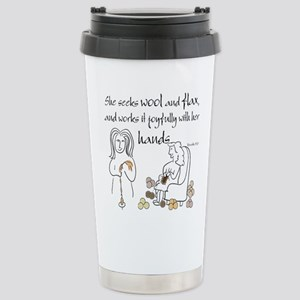 proverbs 31_13v2 Travel Mug