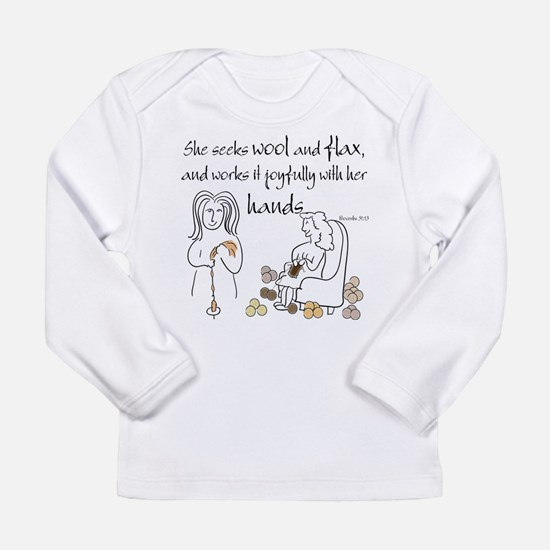 proverbs 31_13v2.png Long Sleeve T-Shirt