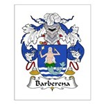 Barberena Family Crest Small Poster