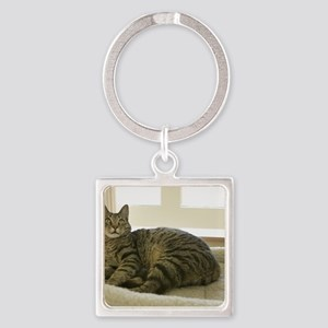 Catbed Kitty Square Keychain