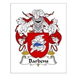 Barbens Family Crest Small Poster