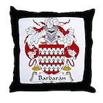 Barbaran Family Crest  Throw Pillow