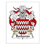 Barbaran Family Crest  Small Poster
