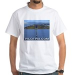 Oakland Airport Final Approach White T-Shirt