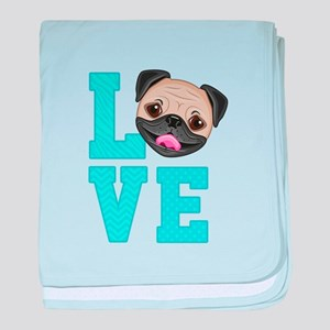 Pug Love baby blanket