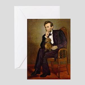 Lincoln's Dachshund Greeting Card