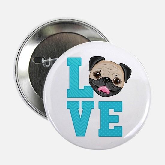 """Pug Love 2.25"""" Button"""