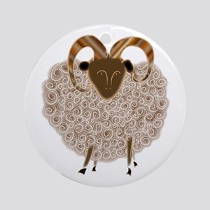 SHEEP Round Ornament