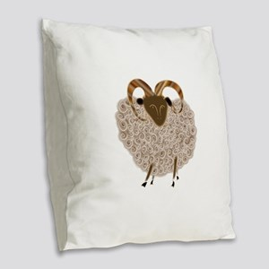 SHEEP Burlap Throw Pillow