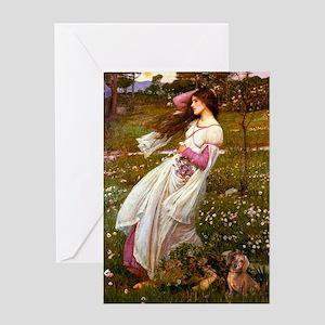 Windflowers / Dachshund Greeting Card