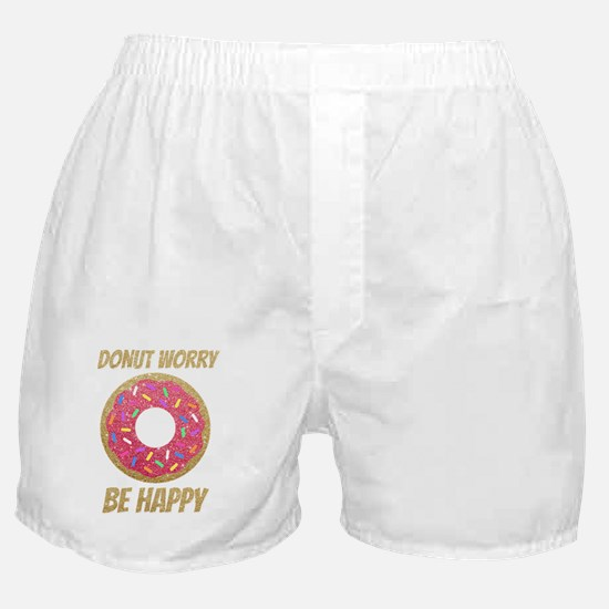 Donut Worry Be Happy Boxer Shorts
