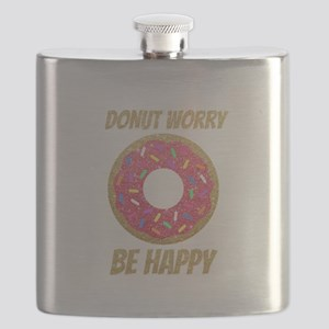 Donut Worry Be Happy Flask