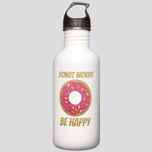 Donut Worry Be Happy Stainless Water Bottle 1.0L