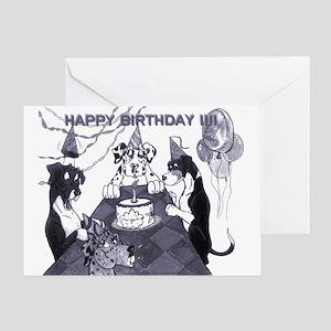 N Birthday Litter Greeting Card