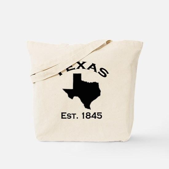 Unique Texas state outline Tote Bag