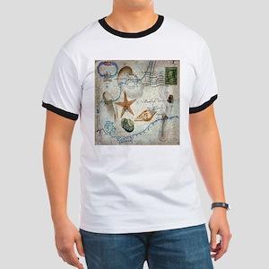 vintage nautical beach sea shells T-Shirt