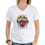 Bandres Family Crest Women's V-Neck T-Shirt