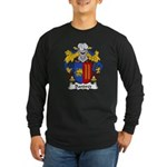Bandres Family Crest Long Sleeve Dark T-Shirt