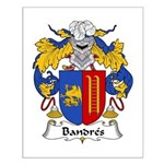 Bandres Family Crest Small Poster