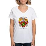 Banda Family Crest Women's V-Neck T-Shirt