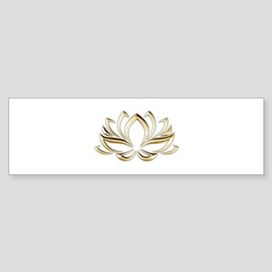 gold lotus Bumper Sticker
