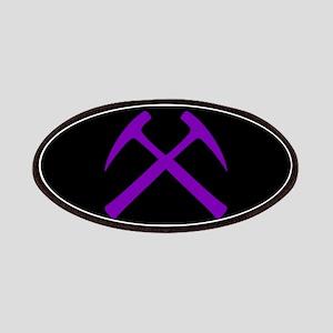 Purple Crossed Rock Hammers Patch