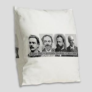Antonin Dvorak Burlap Throw Pillow