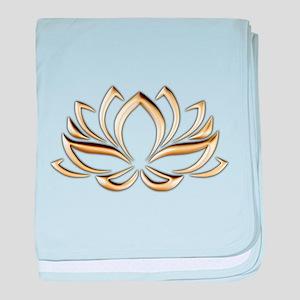 gold lotus baby blanket
