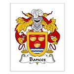 Bances Family Crest Small Poster