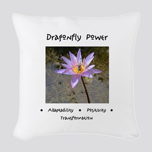Dragonfly Lotus Gifts Woven Throw Pillow