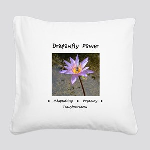 Dragonfly Lotus Gifts Square Canvas Pillow