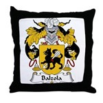 Balzola Family Crest Throw Pillow