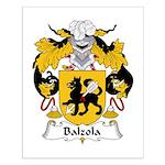 Balzola Family Crest Small Poster