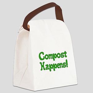 Compost Happens! Canvas Lunch Bag