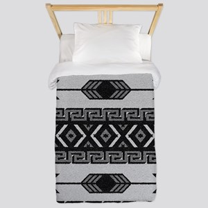 Black And White Aztec Pattern Twin Duvet
