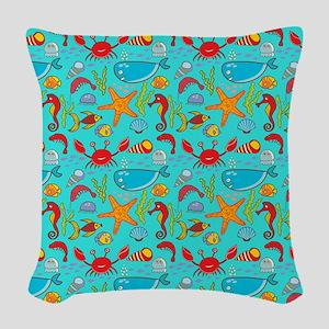 Under The Sea Woven Throw Pillow