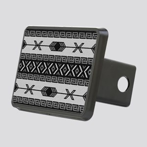 Black And White Aztec Patt Rectangular Hitch Cover