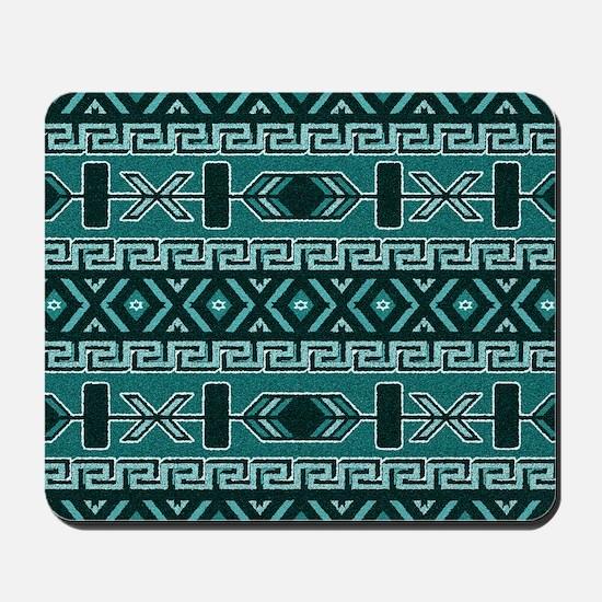 Turquoise Aztec Pattern Mousepad